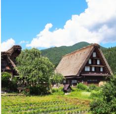 日本の風土を生かした建物イメージ